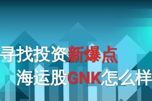【读出财报的秘密】寻找投资新爆点 海运股GNK怎么样?